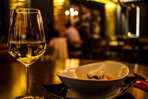 Wine Serving Tips suggest wine pairing with certain dishes on the menu